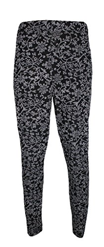 Comfiestyle - Pantalón - chino - para mujer multicolor Creeper Floral M/L (40-42)
