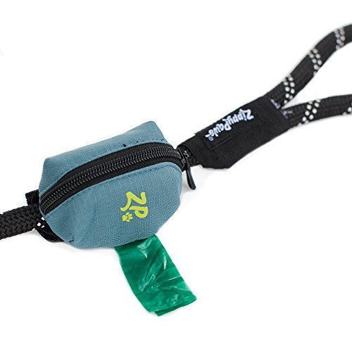 ZippyPaws Dog Poop Bag Holder Leash Attachment (Forest Green)