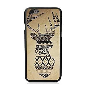 For iPhone 4 4S Case, Fashion Beautiful Deer Pattern Protective Hard Phone Cover Skin Case For iPhone 4 4S +Screen Protector