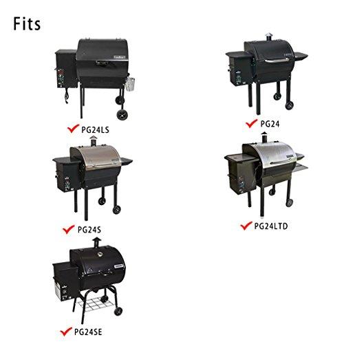 PG24LS RunTo Heavy Duty Full-Length Grill Cover Fits Camp Chef Patio Cover DLX 24 Tan PG24SE PG24 PG24LTD,PG24WWS SmokePro 24 PG24WWSS PG24B PG24S
