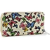 Women's Butterfly Print Wallet Clutch Purse Bag Card Holder