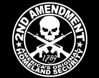CCI 2ND Amendment Americas Original Homeland Security Molon Labe Decal Vinyl Sticker|Cars Trucks Vans Walls Laptop| White |5.5 x 5.5 in|CCI1099