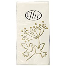 Ideal Home Range Pocket Tissues, Turtle Doves Gold 10-Count, Pack of 15