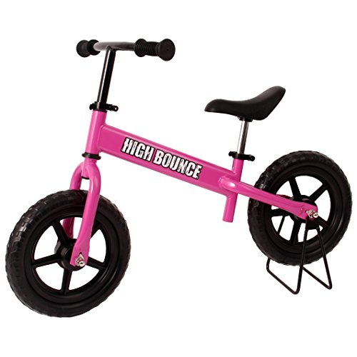 High Bounce Balance Bike Adjustable from 11''-16'' With a Hand Brake(Pink)