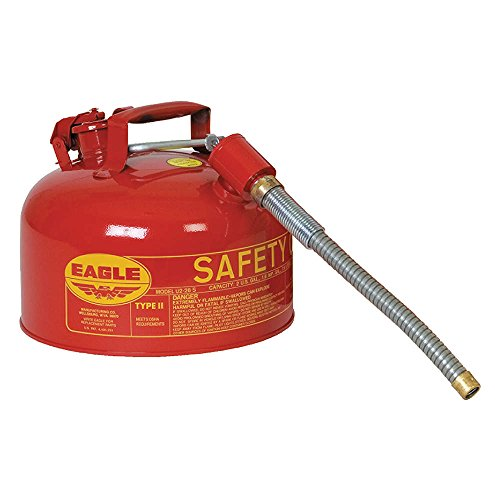 2 Gallon Eagle Type (Eagle U2-26-SX5 Type II Metal Safety Can, Flammables, 11-1/4