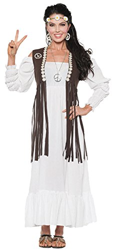 Hippie Flower Child Costume - Earth Child Adult Costume - Medium