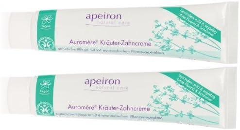 Apeiron Auromere Crema dental herbal Pasta de dientes Crema dental herbal 2x 75 ml Pack doble: Amazon.es: Belleza