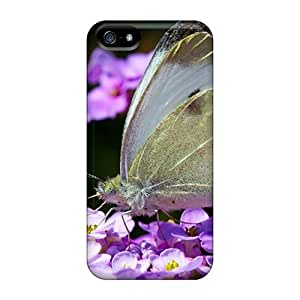Anti-Scratch Hard Cell-phone Case For Iphone 5/5s With Allow Personal Design Stylish Butterfly Skin SherriFakhry