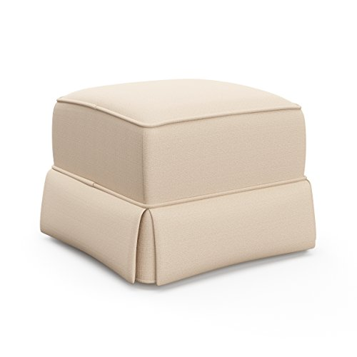 Storkcraft Avalon Upholstered Ottoman, Desert Sand Cleanable Upholstered Comfort Rocking Nursery Ottoman For Sale