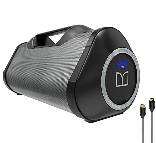 Monster Superstar Blaster High Performance Boom Box-Portable Bluetooth NFC Pair Wireless with Monster HDMI Indoor and Outdoor (Refurbished)