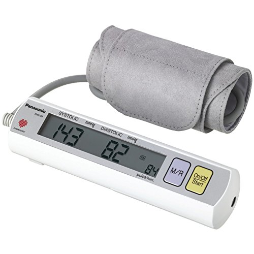 (Panasonic EW3109W Portable Upper Arm Blood Pressure Monitor White/Grey)