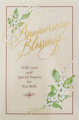 Anniversary Blessings With Love and Special Prayers for You Both - Religious Greeting Card -