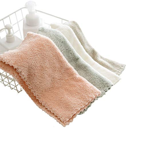 Yamfurvo 8 Packs Classic Style Microfiber Kitchen Dish Cloth and Cleaning Towel Set, 12 x 12 Inch, Rapid Water Absorption and Fast Dry (4 ()