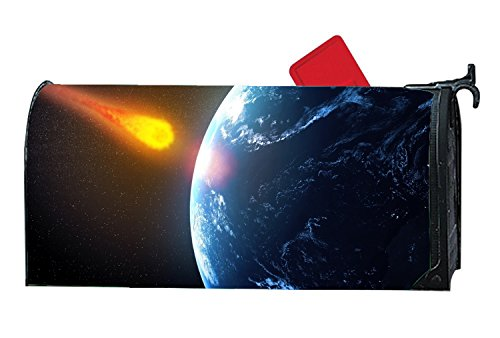 (jiajufushi Attractive Mailbox Makeover Giant Asteroid To Pass Earth In Time For Halloween Mailbox Covers Yard,Garden,Outdoor)