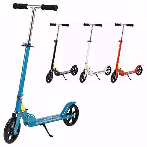 ANCHEER Adult Teen Kick Scooter Portable Foldable Height-Adjustable | Ultra-Lightweight Easy Fold-n-Carry 2 Big Wheels Commuter Scooter for Kids Age 13 Up | 200 lbs Weight Capacity (Upgrade-: - Portable Scooter