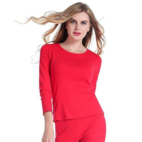 Par de conjuntos de ropa interior térmica/ del algodón del otoño y paquetes de invierno/Sólidos pantalones de manga larga adaptarse a Qiuyi E