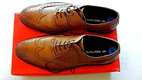 - Red Tape Leather Bradford Oxfords Wingtip Men's Shoes W/Original Box - Size 10 1/2 - Color Tan - Purchased New never worn - Very Rare - This is for 1 Pair Of Shoes