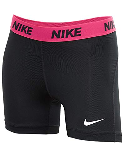 Nike Women's Victory Base Layer 5'' Training Shorts (Black/Vivid Pink/White, X-Small) by Nike (Image #5)