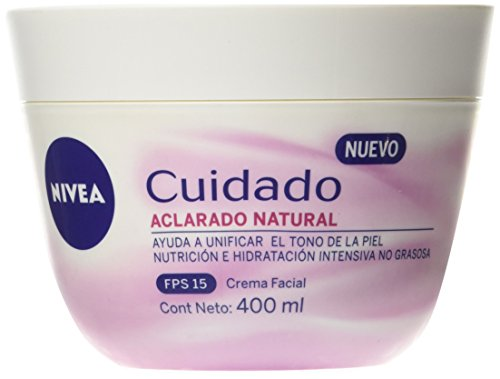 Nivea 24434 Cuidado Aclarado Natural Crema Facial, 400 ml