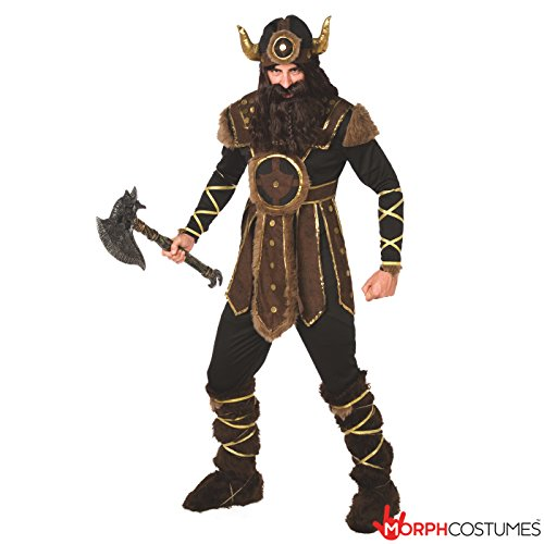 Mens Viking Costumes (Mens Viking Costume Brave Norse Warrior - 4 Piece Quality)