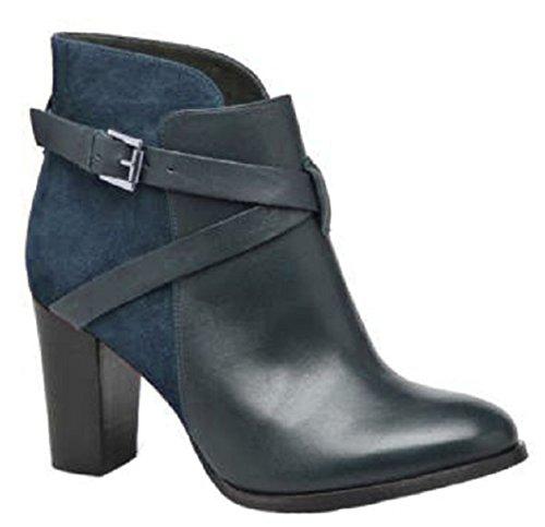 11sunshop Lederen Laarzen Op Het Model Juanna Hgilliane Ontwerp In Blauw 33-44