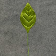 Green Poly Silk Rose Leaves | 100 Leaves | For Crafting and Arranging