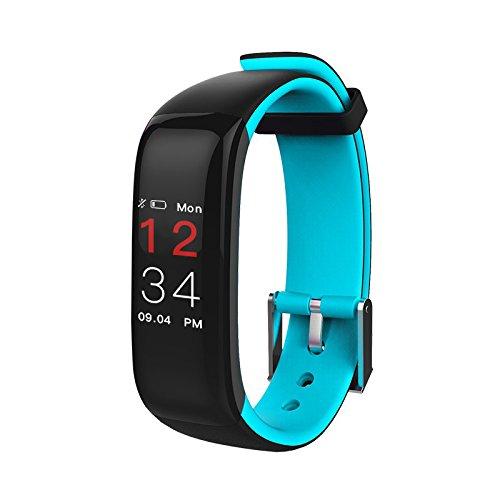 SLH Mujer Pulsera de Actividad Reloj Lnteligente con Pulsómetro Reloj Fitness Podómetro Compatible iOS y Android Teléfono(Azul): Amazon.es: Relojes
