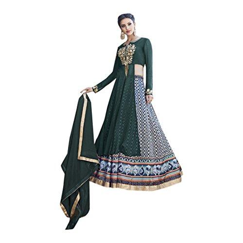 Abiti nuziali nuziali di cerimonia nuziale del progettista indiano delle donne di Lehengha Choli delle donne aderenti Saree Top Jeans Ethnic bridal Lehenga Choli Salwar Kameez 2622