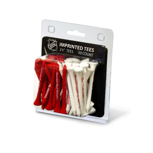 Team Golf NHL Detroit Red Wings 2-3/4 Golf Tees, 50 Pack, Regulation Size, Multi Team Colors