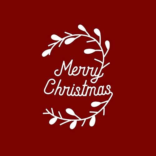 Thank You Wine Bottle Vinyl Sticker Decal - Merry Christmas - 6