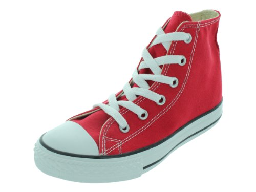 Converse Kids' Chuck Taylor All Star Canvas High Top Sneaker, Red, 13 M US Little Kid Converse Red Shoes