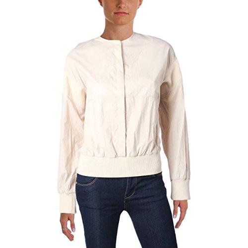 Dkny Puffer Jacket - DKNY Womens Pullover Crew Neck Jacket Tan L
