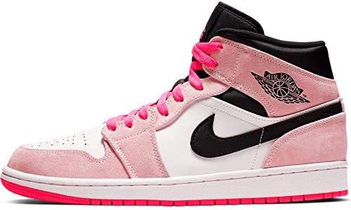 pink and white jordans mens
