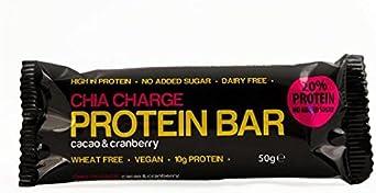 Chia Cargo barra de la proteína Cacao y arándano 50g ...