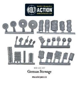 Accessories Tank German - Bolt Action Stowage Pack German , 28mm Wargaming Accessories