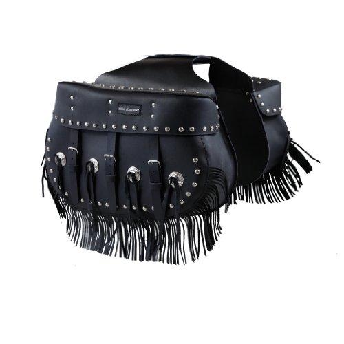 Leder Satteltasche Fransen aus hochwertigem Buffalo Leder