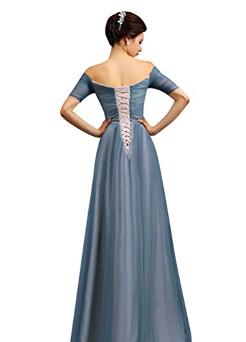 Beauty-Emily Damen Kleid Gr. 34, Blau - Blau ...