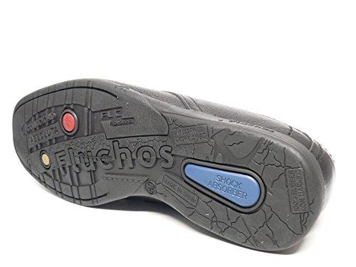 Zapato casual hombre FLUCHOS con cordones en piel color negro - 9099 - 64n negro