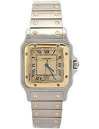 Santos quartz mens Watch 187901 (Certified Pre-owned)