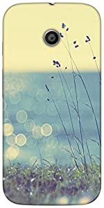Snoogg Coast Grass Sunshine Designer Protective Back Case Cover For Moto-E 2N...