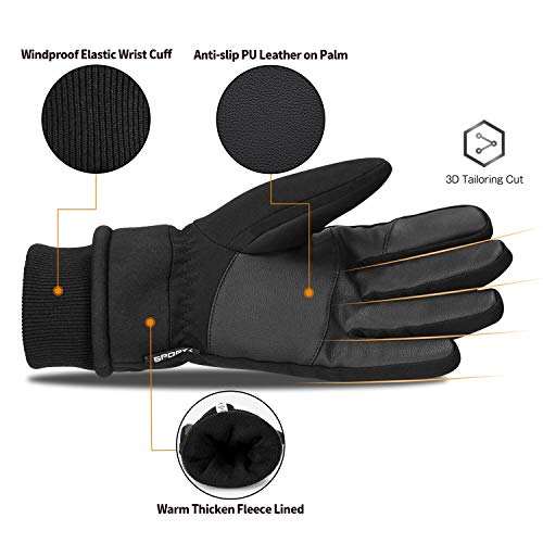 Cevapro 30 Winter Gloves Touchscreen Gloves Thermal Gloves for Running