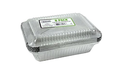 Oblong Pan Plastic Dome Lid Durable Heavy Duty New Aluminum Case Pack 36 2.25 lbs K&A Company