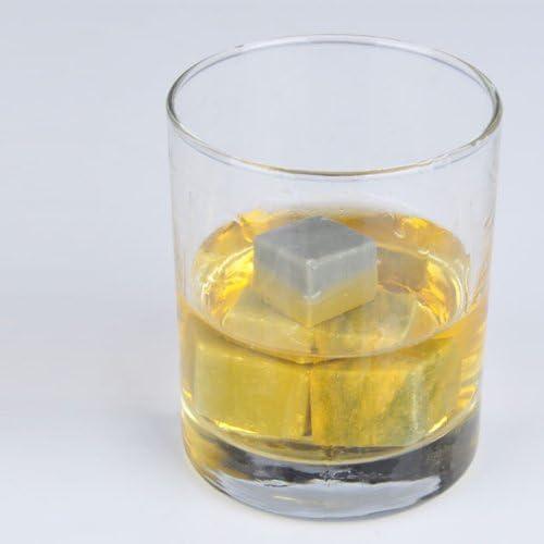 lzndeal Refroidisseurs de gla/çons de marbre de pierre pour la boisson de vin de whisky boissons 3PCS