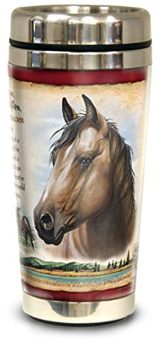 American Expedition Wildlife Steel Travel Mug (American Mustang) - Horse Travel Mugs