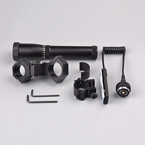 HAOYUN ND3 Zoom Tactical Green Flashlight with Mouse Tail Switch Sight