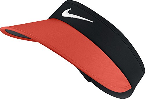 - NIKE Women's Big Bill Visor, Black/Max Orange/Anthracite/White, One Size