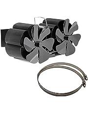 Werstand Warmte aangedreven kachelventilator voor hout,12 messen open haard ventilator, warmte aangedreven kachel Top ventilatoren voor houtbrander/brander/houtbrander/houtkachel, Super stil -25db, CFM160-200, milieuvriendelijk