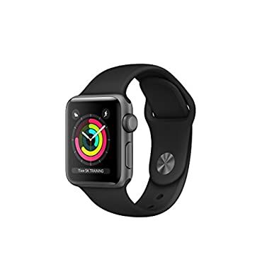 Apple Watch Series 3 GPS Space Gray Aluminum Case with Black Sport Band 38mm
