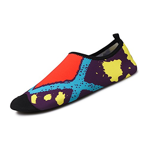 de SK acuático Anti la cuadrados esquí natación de 1 de Lucdespo color Skid zapatos playa light transpirables piel cuidado naranja zapatos calzado Ultra qxCCvRF