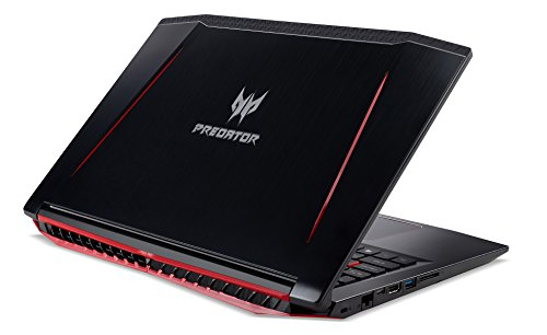 "Acer Predator Helios 300 Gaming Laptop, 15.6"" Full HD, Intel Core i7-7700HQ CPU, 16GB DDR4 RAM, 256GB SSD, GeForce GTX 1060-6GB, VR Ready, Red Backlit KB, Metal Chassis, G3-571-77QK"